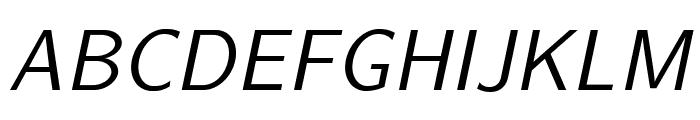 LMSans12-Oblique Font UPPERCASE