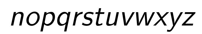 LMSans12-Oblique Font LOWERCASE