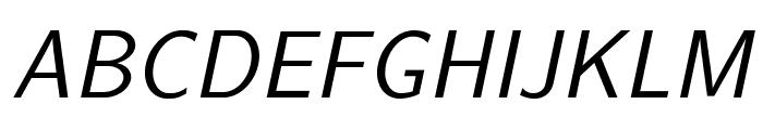 LMSans17-Oblique Font UPPERCASE