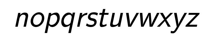 LMSans17-Oblique Font LOWERCASE