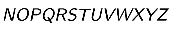 LMSans8-Oblique Font UPPERCASE
