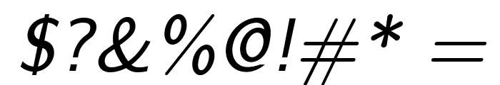LMSans9-Oblique Font OTHER CHARS