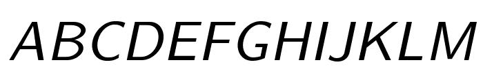 LMSans9-Oblique Font UPPERCASE