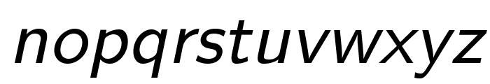 LMSans9-Oblique Font LOWERCASE