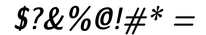 LMSansDemiCond10-Oblique Font OTHER CHARS