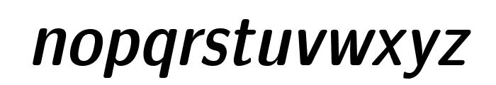 LMSansDemiCond10-Oblique Font LOWERCASE
