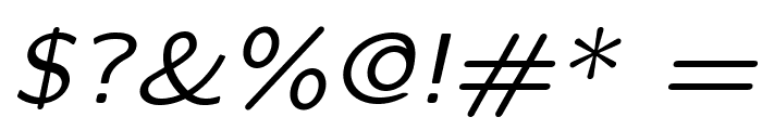 LMSansQuot8-Oblique Font OTHER CHARS