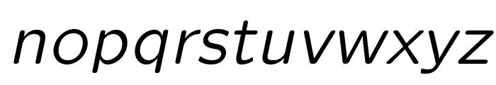 LMSansQuot8-Oblique Font LOWERCASE