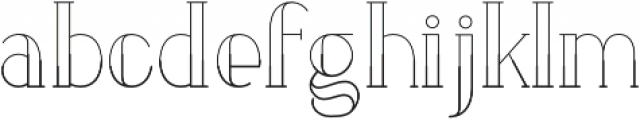 LOVABLE Regular otf (400) Font LOWERCASE