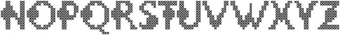 LOVELY-DAY-COLOR CROSS STICH otf (400) Font UPPERCASE