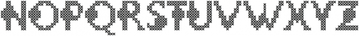 LOVELY-DAY-COLOR CROSS STICH otf (400) Font LOWERCASE