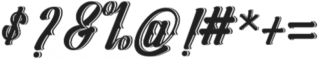 Logawa Shadow otf (400) Font OTHER CHARS