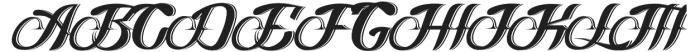 Logawa Shadow otf (400) Font UPPERCASE