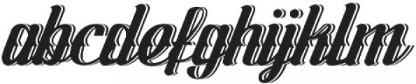 Logawa Shadow otf (400) Font LOWERCASE