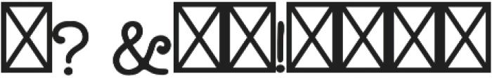 Longshore otf (400) Font OTHER CHARS