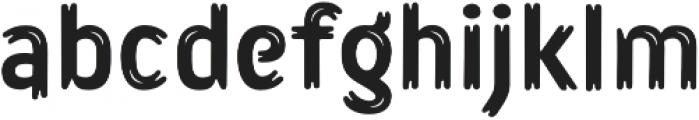 Lonkie Brush Regular otf (400) Font LOWERCASE