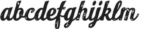 Look Script Print Bold otf (700) Font LOWERCASE