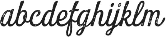 Look Script Print Regular otf (400) Font LOWERCASE