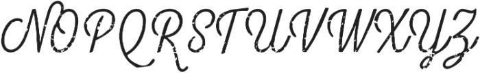 Look Script Rough Light otf (300) Font UPPERCASE
