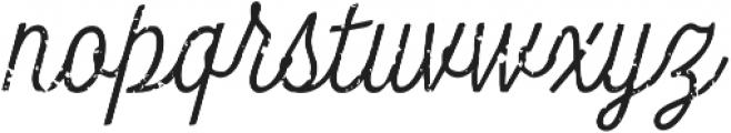 Look Script Rough Light otf (300) Font LOWERCASE