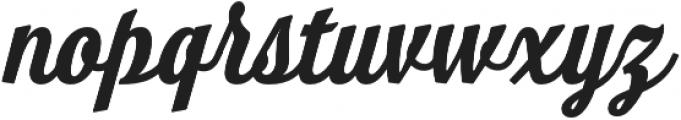 Look Script otf (700) Font LOWERCASE