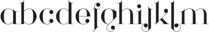 Loopkin Regular otf (400) Font LOWERCASE