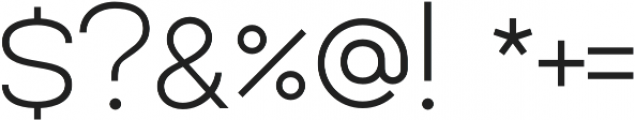 Lorano ExtraLight otf (200) Font OTHER CHARS