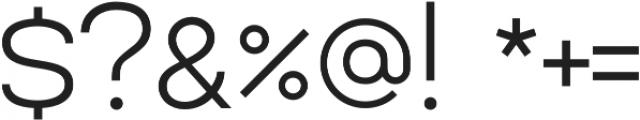 Lorano Light otf (300) Font OTHER CHARS