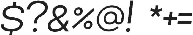 Lorano SemiLight Italic otf (300) Font OTHER CHARS