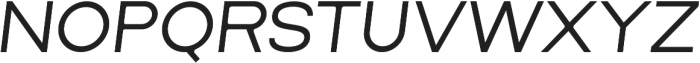 Lorano SemiLight Italic otf (300) Font UPPERCASE