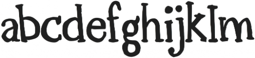 Lorem Serif otf (700) Font LOWERCASE