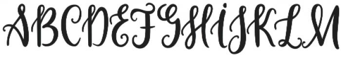 Lorena Script otf (400) Font UPPERCASE