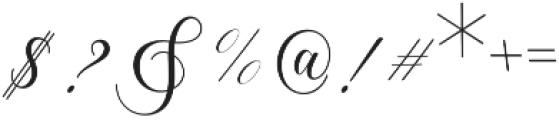 Lorriana script Regular otf (400) Font OTHER CHARS
