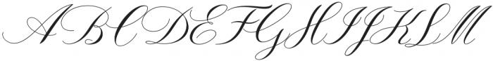 Lorriana script Regular otf (400) Font UPPERCASE