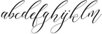Lorriana script Regular otf (400) Font LOWERCASE