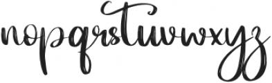 LosDoel Regular otf (400) Font LOWERCASE