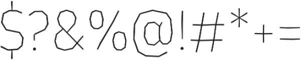 LosLana Niu Essential Thin otf (100) Font OTHER CHARS