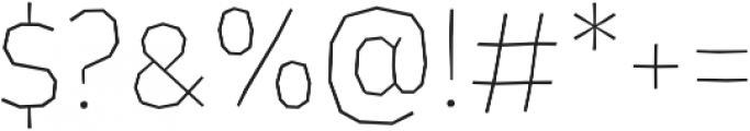 LosLana Niu SmallCaps Thin otf (100) Font OTHER CHARS