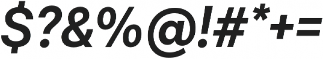 Lota Grotesque Alt 1 SemiBold It otf (600) Font OTHER CHARS