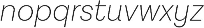 Lota Grotesque Alt 2 ExLight It otf (300) Font LOWERCASE