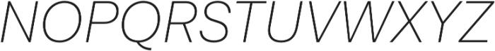 Lota Grotesque Alt 3 ExLight It otf (300) Font UPPERCASE