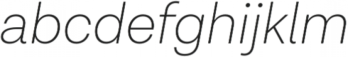 Lota Grotesque ExLight It otf (300) Font LOWERCASE