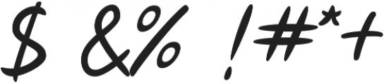 Lotterras Script otf (400) Font OTHER CHARS