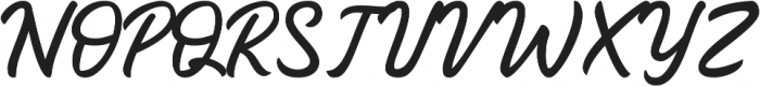 Lotterras Script otf (400) Font UPPERCASE