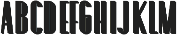 Louvre Extrude otf (400) Font UPPERCASE