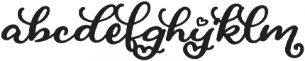 Love At First Sight Script Swash Alternates Swash Alternates otf (400) Font LOWERCASE