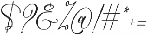 Love Fieldfare Regular otf (400) Font OTHER CHARS