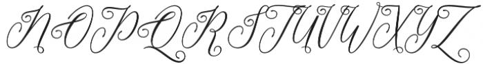 Love Fieldfare Regular otf (400) Font UPPERCASE