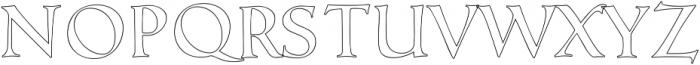 Love Notes Outline ttf (400) Font UPPERCASE