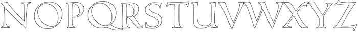 Love Notes Outline ttf (400) Font LOWERCASE